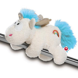 LIV-123/unicornblue, MagNICI magnetic plush toys, unicorn Rainbow Flair, with magnets in paws