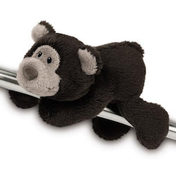 LIV-123/beardb, MagNICI magnetic plush toys, cuddly bear dark brown, with magnets in paws
