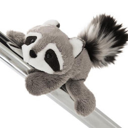 LIV-123/racoon, MagNICI magnetic plush toys, raccoon Rod, with magnets in paws