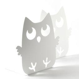 M-84/owl, Sujetalibros con motivos de animales, acero pulvimetalúrgico, 2 uds., búho, ¡no es magnético!