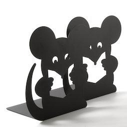 M-84/mouse, Sujetalibros con motivos de animales, acero pulvimetalúrgico, 2 uds., ratón, ¡no es magnético!
