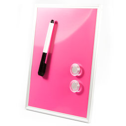SALE-118, Mini Whiteboard Pink, 216 x 280 mm, includes marker and two magnets