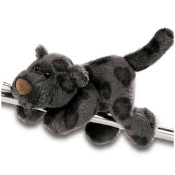 LIV-123/panther, MagNICI magnetic plush toys, panther Carter, with magnets in paws