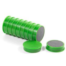 M-OF-RD30/green, Aimants en ferrite pour tableau, plastifiés, lot de 10, vert