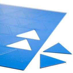 BA-014TR/blue, Magnetische symbolen driehoek groot, voor whiteboards & planborden, 25 symbolen per A4-blad, blauw