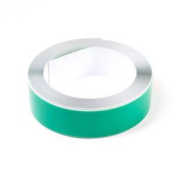 M-FERROTAPE/5m, Metaalband zelfklevend wit, zelfklevende hechtoppervlak voor magneten, breedte 35 mm, rol à 5 m
