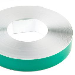 M-FERROTAPE/25m, Metaalband zelfklevend wit, zelfklevende hechtoppervlak voor magneten, breedte 35 mm, rol à 25 m