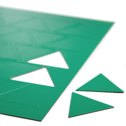 BA-014TR/green, Symboles magnétiques triangle grand, pour tableaux blancs & tableaux de planning, 25 symboles par feuille A4, vert