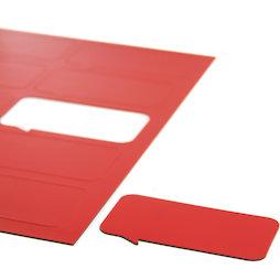 BA-014BR/red, Symboles magnétiques bulle rectangulaire, pour tableaux blancs & tableaux de planning, 10 symboles par feuille A4, rouge