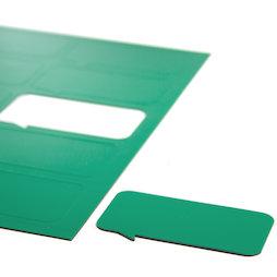 BA-014BR/green, Symboles magnétiques bulle rectangulaire, pour tableaux blancs & tableaux de planning, 10 symboles par feuille A4, vert