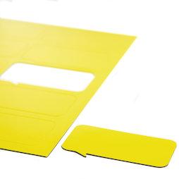 BA-014BR/yellow, Magneetsymbolen tekstballon rechthoekig, voor whiteboards & planborden, 10 symbolen per A4-blad, geel