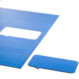BA-014BR/blue, Symboles magnétiques bulle rectangulaire, pour tableaux blancs & tableaux de planning, 10 symboles par feuille A4, bleu