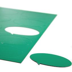 BA-014BO/green, Magneetsymbolen tekstballon ovaal, voor whiteboards & planborden, 10 symbolen per A4-blad, groen