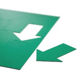 BA-014AR/green, Symboles magnétiques flèche grande, pour tableaux blancs & tableaux de planning, 8 symboles par feuille A4, vert