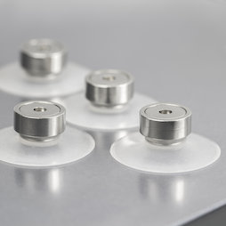 M-SN-05, Suction cup magnet Ø 40 mm extra-strong, with pot magnet with internal thread Ø 20 mm