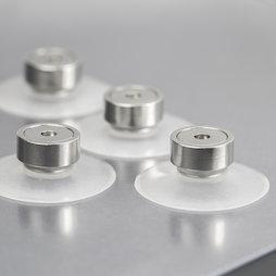 M-SN-05, Ventouse magnétique Ø 40 mm extra-forte, avec aimant en pot avec filetage intérieur Ø 20 mm