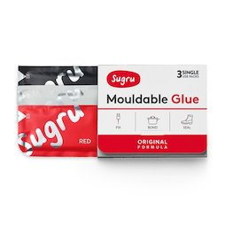SUG-03/mixed2, Sugru set of 3, mouldable glue, 1x black, 1x white, 1x red, packages of 5 g each
