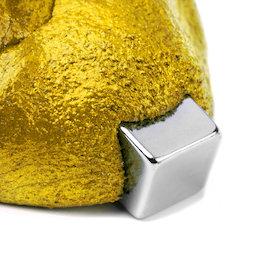 M-PUTTY-FERRO/gold, Pâte à modeler magnétique intelligente, pâte à modeler ferromagnétique, coloris or, aimant non inclus dans la livraison