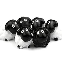 LIV-52, Petits moutons, aimants décoratifs en forme de moutons, lot de 6