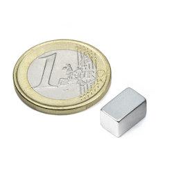 Q-10-06-06-Z, Blokmagneet 10 x 6 x 6 mm, neodymium, N45, verzinkt