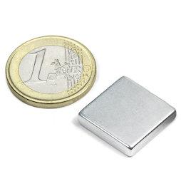 Q-18-18-04-Z, Bloque magnético 18 x 18 x 4 mm, neodimio, N45, galvanizado