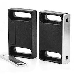 M-FURN-04, Magneetbeslag breed voor meubels, van metaal, met tegenplaat