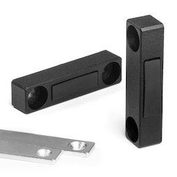 M-FURN-03, Armature magnétique étroite pour meubles, en métal, avec contre-plaque