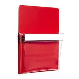 MP-A4/red, Pochette magnétique rouge A4, pour le bureau et l'atelier, format A4