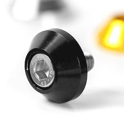 OSC-02/black, Rondelle conique, en aluminium anodisé, noire, non magnétique!