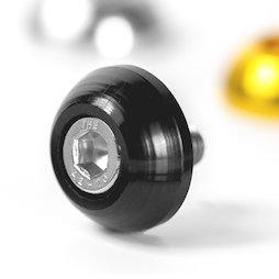 OSC-01/black, Unterlegscheibe, aus eloxiertem Aluminium, schwarz, nicht magnetisch!