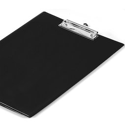WS-WSF-03, Clipboard black, with foil coating and sheet protector, A4 format, not magnetic!