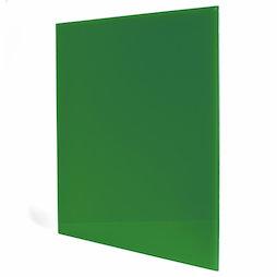 GMBB-4550/green, Glazen memobord vierkant, 45 x 50 cm, in verschillende kleuren
