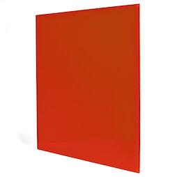 GMBB-4550/red, Glazen memobord vierkant, 45 x 50 cm, in verschillende kleuren