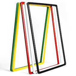 SF-FRM-A3, Sign frame A3, made of plastic, with rounded corners, u-pocket included