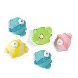 SALE-123, Blowfish, deco magnets in the shape of fish, set of 5