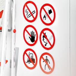 MS-W, Verbotsschilder magnetisch, verschiedene Verbotszeichen