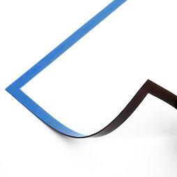 QMS-A4/blue, Cadre magnétique A4, pour accrocher des notes, pour tableaux blancs, armoires, etc., bleu
