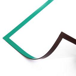 QMS-A4/green, Cadre magnétique A4, pour accrocher des notes, pour tableaux blancs, armoires, etc., vert