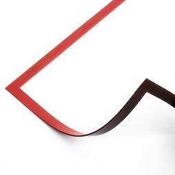 QMS-A4/red, Cadre magnétique A4, pour accrocher des notes, pour tableaux blancs, armoires, etc., rouge