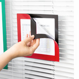 QMS-A5-STIC, Magnetic frame self-adhesive A5, to display notes, A5 format