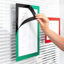 QMS-A4-STIC, Magnet-Rahmen selbstklebend A4, zum Aufhängen von Hinweisen, Format A4