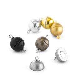 SV-ES-08, Jewellery clasp magnetic round small, for necklaces / bracelets, Ø 8 mm