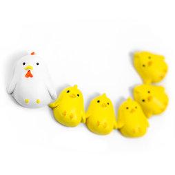 LIV-145, Chicken, Aimants décoratifs en forme de poule, lot de 6