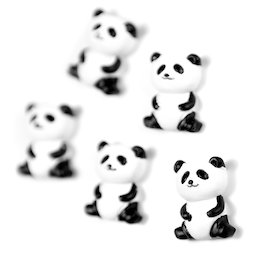 LIV-142, Panda, panda-shaped decorative magnets, set of 5