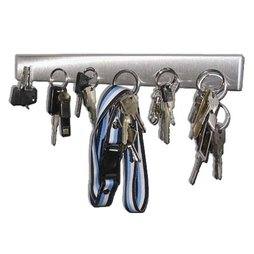 FO-1, Key rack magnetic 32 cm, magnetic strip, made of stainless steel, for 6 keys
