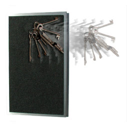 FO-7, Key rack magnetic extra strong, stainless steel with felt coating, for 8 keys