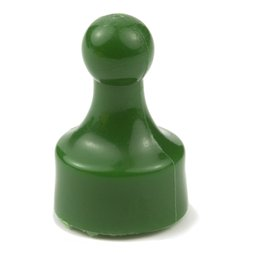 M-PIN/green, Magnetic pins 'Players', bulletin board magnets in the shape of a pawn in a game, set of 10, green
