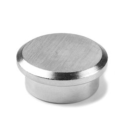 PBM-22, Steel 22, Büromagnet Neodym aus Stahl, Ø 22 mm