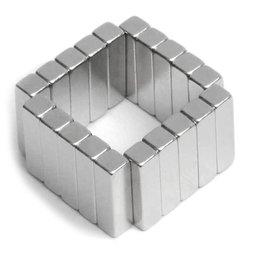Q-15-04-04-MN, Quadermagnet 15 x 4 x 4 mm, Neodym, 45M, vernickelt