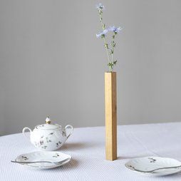 LIV-34, Florero magnético roble, florero de madera de roble, se adhiere a una placa metálica, en paquete de regalo